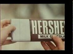This Hershey commercial in the attracted people to chocolate. Even in the people enjoyed snacking while watching TV. The were the first known time where TV ad's were a real part of the experience of watching TV. Hershey Chocolate Bar, Hershey Bar, Retro Candy, Old Commercials, Commercial Ads, Kids Growing Up, Oldies But Goodies, Vintage Tv, Old Ads