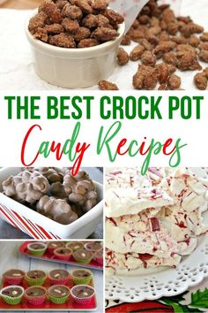Crock pot candy is a favorite at Christmas and during the holidays. There are lots of different Christmas candy recipes you can make in the slow cooker. Crock Pot Slow Cooker, Slow Cooker Recipes, Crockpot Recipes, Crockpot Dishes, Christmas Desserts, Holiday Treats, Christmas Recipes, Christmas Cookies, Candy Recipes