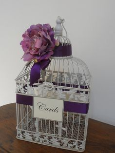 Card container  #Purple #country #wedding … Wedding #ideas for brides, grooms, parents & planners https://itunes.apple.com/us/app/the-gold-wedding-planner/id498112599?ls=1=8 … plus how to organise an entire wedding, within ANY budget ♥ The Gold Wedding Planner iPhone #App ♥ For more inspiration http://pinterest.com/groomsandbrides/boards/  #country #tablescape #rustic #lavender