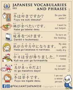 japanese vocabulary and phrases