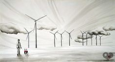 Art Lover Place - Wowo & Chen (Wind) (Peinture) par Orianne Zanone