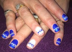 Blue and white spots