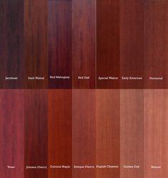 Red Mahogany Vs Oak Color Comparison