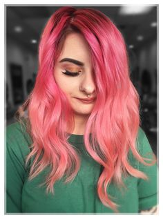 PINK HAIR DON'T CARE!! 💓⠀⠀ We just adore helping clients show off their favorite color and personal style! How much do you love this pink hair?⠀ #salonheadcandy #njstylist #brightpinkhair #neonhair ⠀⠀