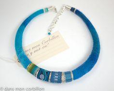 Textile Jewelry, Fabric Jewelry, Felted Jewelry, Cute Jewelry, Jewelry Crafts, Handmade Jewelry, Felted Wool Crafts, Felt Crafts, Fabric Beads