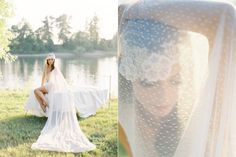 Bride Chic's Trend Watch: Beautiful Dots:  Beautiful swiss dot and lace cathedral bridal veil