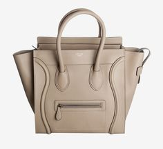 Celine Sand Beige Mini Luggage Handbag