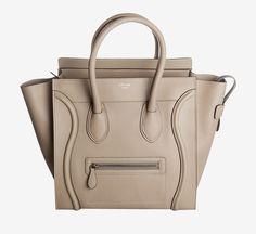 Celine Sand Beige Mini Luggage Handbag