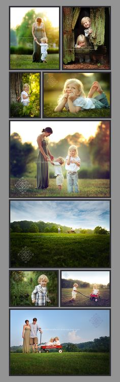 Beautiful family photos. Love the lighting