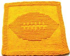 Knitting Cloth Patterns    Football   PDF by ezcareknits on Etsy, $3.00