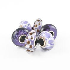 6pc Purple & Black Team Bead Set