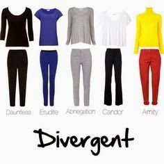 Divergent party ideas -have your friends dress up in whichever faction they choose Divergent Birthday, Divergent Party, Divergent Outfits, Divergent Fashion, Divergent Hunger Games, Fandom Outfits, Divergent Clothes, Dauntless Outfit, Divergent Trilogy