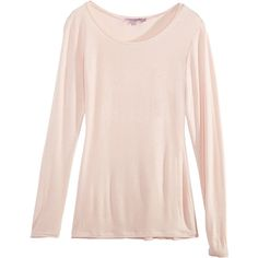Calypso St. Barth Jordana L/S Scoopneck Tee ($75) ❤ liked on Polyvore featuring tops, t-shirts, calypso st. barth, pink top, scoop neck tee, longsleeve tee and long sleeve scoop neck top