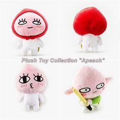 Kakao Friends Official Goods Mini Dolls Plush Toys Apeach Collection 17cm 0040 #KakaoFriends