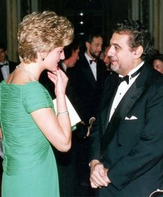 Royalty: Placido Domingo with Princess Diana - London Evening Standard