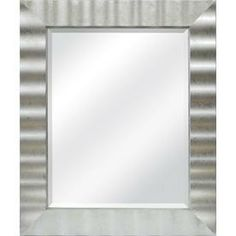 Allen Roth 30 In X 36 In Silver Leaf Beveled Rectangle Framed Contemporary Wall Mirror 72272 Framed Mirrorsbathroom