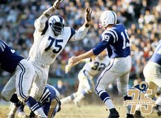"""Hall of Fame defensive end David 'Deacon' Jones was an L.A. Ram 1961-1971. Jones was part of the """"Fearsome Foursome,"""" and was known for taking down quarterbacks. He posted double figure sack totals  seven times, including three 20-sack seasons. Jones was the first defensive lineman to record 100 solo tackles in a single season (1967), was an eight time Pro Bowler, five time All-Pro, two time NFL Defensive Player of the Year, and was named to the NFL 75th Anniversary All-Time Team."""