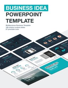 "The ""Business idea"" PowerPoint template is a perfect option for those who want to create good reputation and present at his\her best. More Templates >"