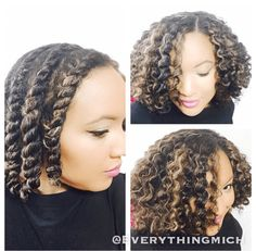 The Perfect Flat Twist Out IG:@everythingmich  #naturalhairmag #naturalhair