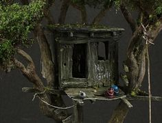 """""""Toms' treehouse"""" 1/87 scale.  By Oliver """"HonourGuard"""" Späth."""