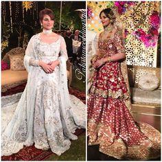Pakistani couture Rameeza Nizami looked ethereal in these absolutely breathtaking bridals by @deenarahmanofficial and @ammarakhanatelier. #pakistanweddingstyle #Roweeza #wedding #gorgeous #bride #RameezaNizami #wearing #DeenaRahman #regal #red #bridal #rukhsati #baraat #AmmaraKhan #iceblue #ensemble #reception #walima #weddingwear #weddingstyle #fashion #weddinginspo #pakistaniwedding #weddingseason #Lahore #Pakistan