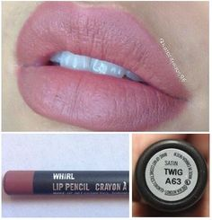 Mac 'Brave' or 'Twig' lipstick and 'Whirl' lip-liner!
