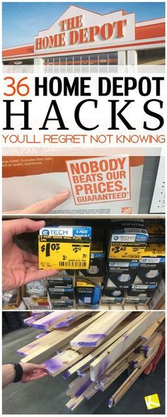 36 Home Depot Hacks You'll Regret Not Knowing - Thinking about remodeling your kitchen or home? Learn how to save on all your DIY home repair plans with these tips and tricks at Home Depot. Do It Yourself Furniture, Do It Yourself Home, Design Café, Home Design, Floor Design, Interior Design, Store Hacks, Shopping Hacks, Bargain Shopping