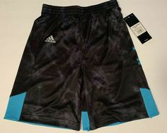Boy/'s Bermuda Shorts Adidas Dark Grey Navy Red print Climalite Size 4