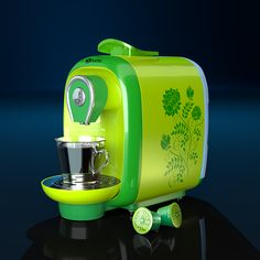 S-Home coffee maker used in The Foundry COLORWAY launch by Tomasz Lechociński, via Behance