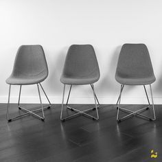 Kanto ARTIKA-X Wool Side Chairs with Chrome Base | AllModern