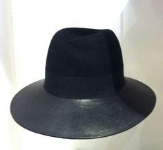 MAISON MICHEL fedora leather hat fall 2013