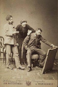 Portret Aleksandra Gierymskiego, Stanisława Witkiewicza i Antoniego Sygietyńskiego oglądających obraz, 1884