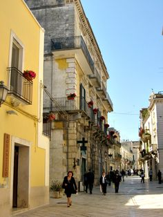 Streets of Altamura, Puglia, Italy renowned for the best bread in Italy which forced McDonald's out of business .