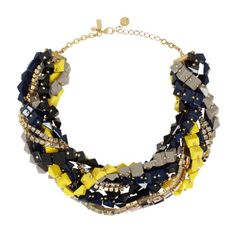 """Love that the name of this Kate Spade necklace is """"Squared Away"""".  This would look awesome with a blue, green or white tee/top and some denim cropped pants or jeggings."""