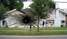 this incredible and beautiful installation by artists Dan Havel and Dean Ruck a few months before this house was to be demolished
