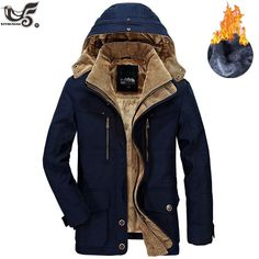 ainr Mens Classic Thick Warm Padded Lined Fleece Hooded Sweatshirt Coat Jacket