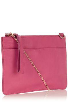 The Stephanie Leather Clutch - Oasis