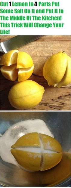 Cut 1 Lemon In 4 Parts Put Some Salt On It and Put It In The Middle Of The Kitchen! This Trick Will Change Your Life!