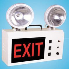 We often use safety products for the safety of our company and for the safety of our employees when there is a risk of fire or hazardous products in the industry. So here is the Emergency Exit Light in Fire Safety Product which is very helpful to the industry workplace so you are buying Emergency Exit Light. So you can learn all the information you should keep in mind while buying through VividFireSafety Blog. #industrial emergency light #emergency exits in the workplace Exit Sign, Emergency Lighting, Fire Safety, Workplace, Signage, Industrial, Clock, Lights, Led