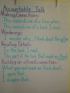 Read to Someone - Accountable Talk - Sharing favorite books one day a week with a partner?