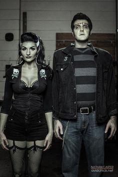 DIY Rockabilly Frankenstein Halloween Costume Idea
