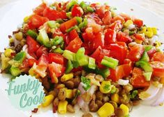 Lentils - Make a Great Healthy Side Dish for a Low Carb Supper Option. Side Recipes, Greek Recipes, Paleo Recipes, Low Carb Recipes, Healthy Side Dishes, Healthy Sides, Healthy Choices, Lentils, Healthy Eating