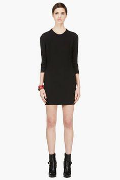 Iro Black Leather-trimmed Open Back Gaia Dress for women | SSENSE