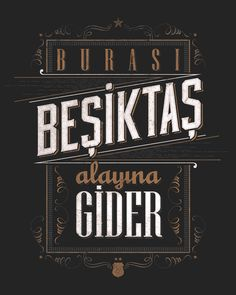 Beşiktaş Chants Typographic posters and t-shirts inspired by popular fan songs for the Turkish soccer team Besiktas JK. // Typographic posters and t-shirts designed with the inspiration of the classic cheers of the Beşiktaş and Çarşı group. Typography Served, Vintage Typography, Magazine Layout Design, Design Layouts, Typographic Poster, Book And Magazine, Picture Description, Cool Posters, Image Boards