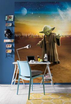 Mural Ref 4442 star wars master yoda Wallpaper Stickers, Paper Wallpaper, Photo Wallpaper, Disney Wallpaper, Normal Wallpaper, Star Wars Wallpaper, Meister Yoda, Jedi Ritter, Poster Xxl