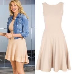 The Other Woman movie: Amber's (Kate Upton) pastel/pale pink/peach dress by Azzedine Alaia