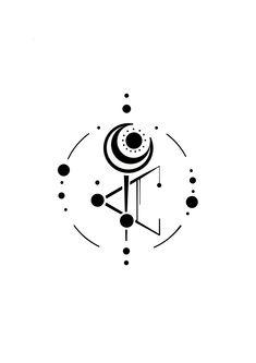 tattoos symbols Neosymbolism design by sten tattoos symbols Trendy Tattoos, Mini Tattoos, Body Art Tattoos, Small Tattoos, Sleeve Tattoos, Tattoos For Guys, Geometric Tattoo Design, Geometric Art, Geometric Designs