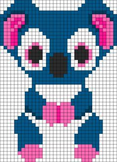 Kooky Koala Beanie Boo Perler Bead Pattern | Bead Sprites | Animals Fuse Bead Patterns