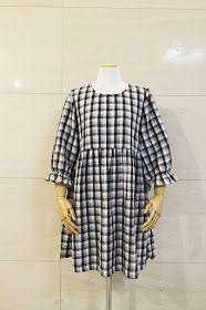 원피스만들기, 옷만들기패턴, girlish gather dress pattern,더블거즈