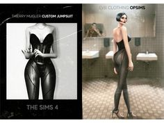 [OPSIMS] Thierry Mugler Custom Corset Jumpsuit (The Sims Just a simple Corset Jumpsuit that I made for my a Met Gala picture and decided to share with you all! Enjoy it! If you have any problems. The Sims 4 Pc, Sims Four, Sims 4 Cas, My Sims, Sims Cc, Custom Corsets, The Sims 4 Cabelos, Sims 4 Game Mods, Sims 4 Dresses